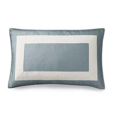Silk Border Pillow Cover, Blue Dawn - Williams Sonoma