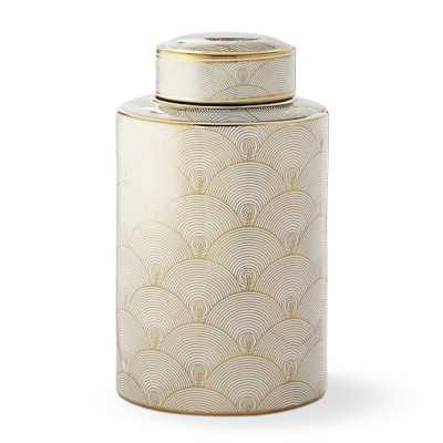 Gold Printed Jar, Small, Fan - Williams Sonoma