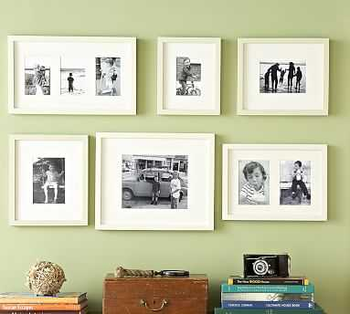 Gallery in a Box, Modern White Frames, Set of 6 - Pottery Barn