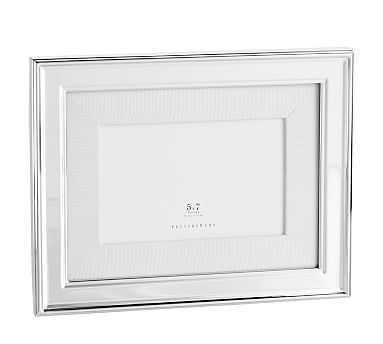 Silver-Plated Grosgrain Ribbon Frame, 5'x7' - Pottery Barn