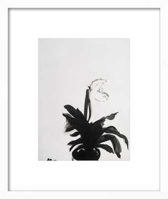 "The Orchid - 16x19"" - White Wood Frame with Matte - Artfully Walls"