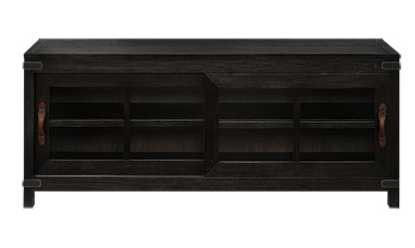TREMONT LARGE MEDIA CONSOLE IN DRY BRANCH BLACK - Arhaus
