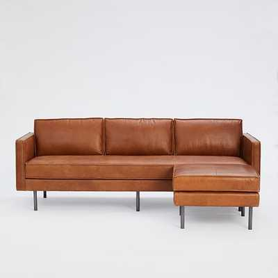 "Axel Leather Sofa (89"") + Ottoman Set - West Elm"