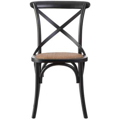 Hyde Black Wood Dining Chair (Set of 2) - Home Depot