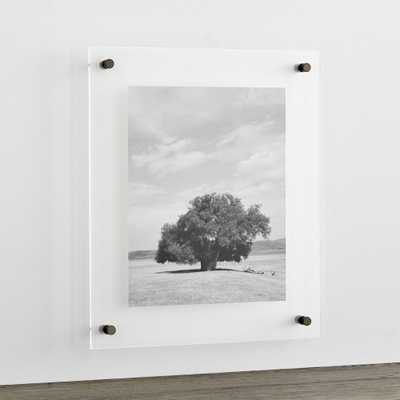 """Gunmetal 19x16"""" Floating Acrylic Wall Frame - Crate and Barrel"""