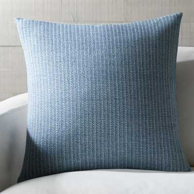 """Liano 23"""" Azure Pillow with Feather-Down Insert - Crate and Barrel"""