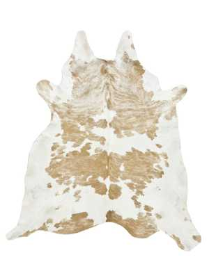Palomino & White Spotted Cowhide Rug - L - Cowhide Imports