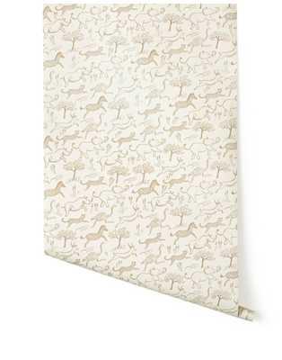 Safari Wallpaper (Taupe) - Hygge & West