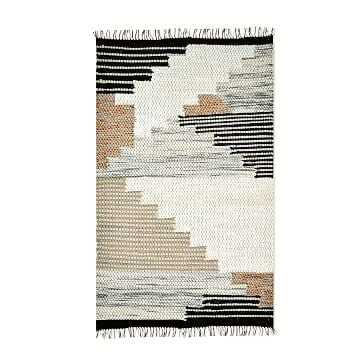 Colca Wool Rug, Flax, 8 x 10 - West Elm