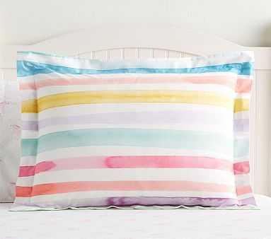 Organic Kayla Rainbow Stripe Standard Sham, - Pottery Barn Kids