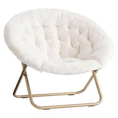 Ivory Polar Bear Hang-A-Round Chair - Pottery Barn Teen