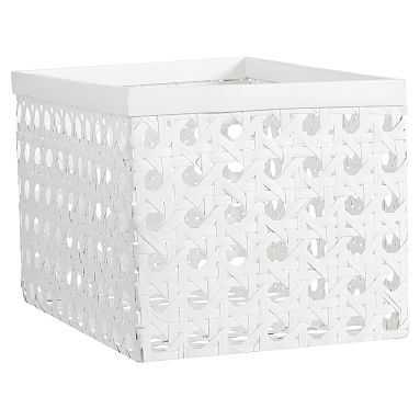 Open Weave Baskets, Large, Single, White - Pottery Barn Teen