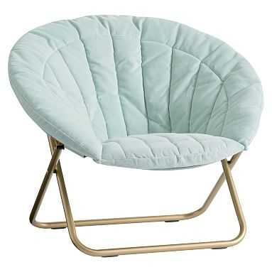 Light Pool Velvet Channel Stitch Hang-A-Round Chair - Pottery Barn Teen