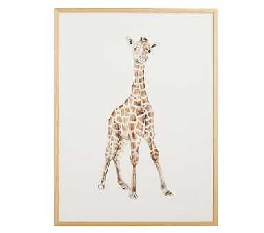 Baby Giraffe Watercolor Wall Art by Minted(R), Natural, 18x24 - Pottery Barn Kids