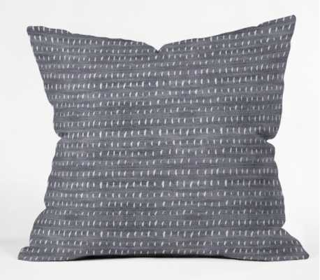 "BOGO DENIM RAIN LIGHT Outdoor Throw Pillow - 20""x20""- insert included - Wander Print Co."