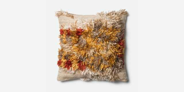 """P0413 CAMEL / SUNSET Pillow Cover with Poly Insert - 22"""" x 22"""" - Loma Threads"""