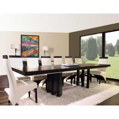 Verona Rectangular Extension Dining Table - Wenge - Hayneedle