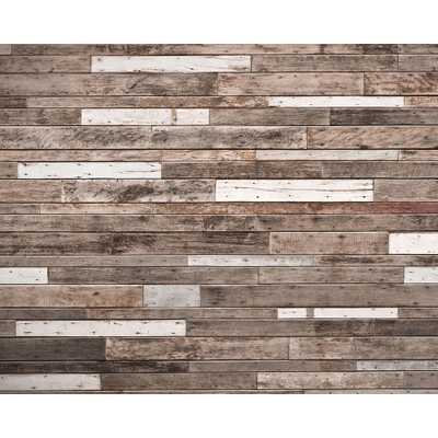 Wooden Planks Wall Mural - Home Depot