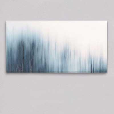 Framed Canvas Print - Blue Ombre - West Elm
