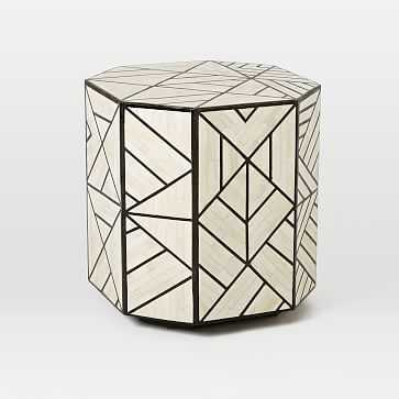 Bone Inlay Side Table - West Elm