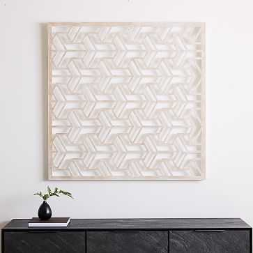 Lattice Wall Art, Square - West Elm