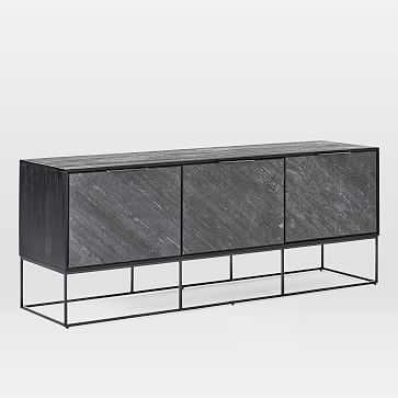 """Slate Industrial Media Console, 86"""" - West Elm"""