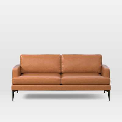 """Andes Leather Sofa (76.5"""") - West Elm"""