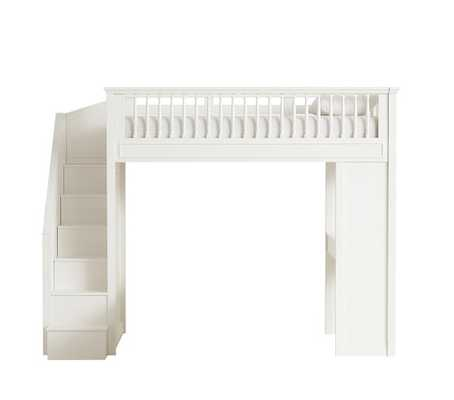 Fillmore Stair Loft Bed, Twin, Simply White - Pottery Barn Kids