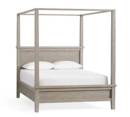 Farmhouse Canopy Bed, King, Gray Wash - Pottery Barn