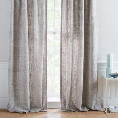 Allover Crosshatch Velvet Jacquard Curtain - West Elm