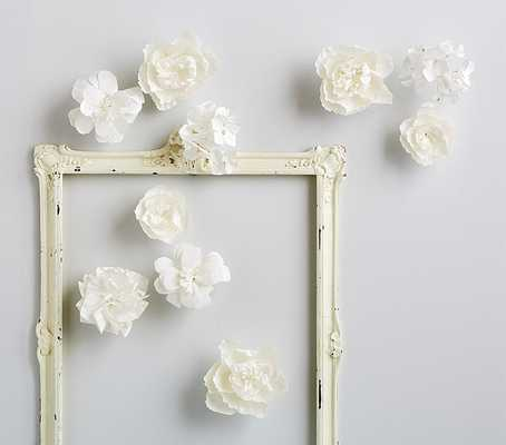 White Mixed Flower Wall Decor - Pottery Barn Kids