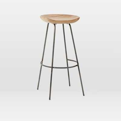 Alden Bar Stool, Natural Mango - West Elm