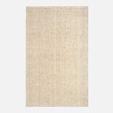 Jute Boucle Rug, 8x10', Light Flax - West Elm