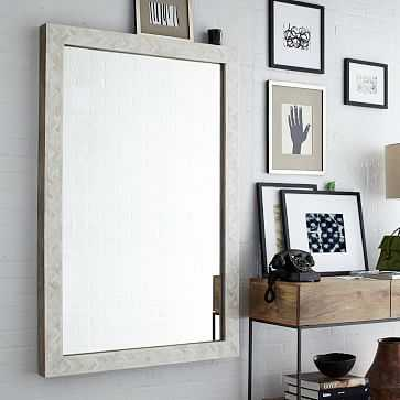 "Parsons Wall Mirror, Large, Bone Inlay, 36""X54"" - West Elm"