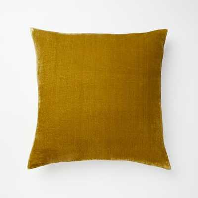 "Lush Velvet Pillow Cover, 20""x20"", Wasabi - West Elm"
