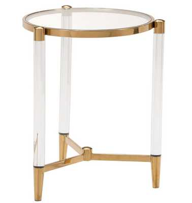 Existential Gold Side Table - High Fashion Home