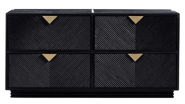 ivo low black dresser - CB2