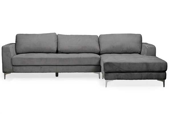 AGNEW CONTEMPORARY MICROFIBER RIGHT FACING SECTIONAL SOFA - Hayneedle