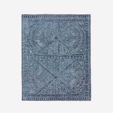 Maze Rug, Shadow Blue, 6x9' - West Elm