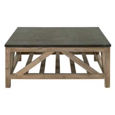 Blue Stone Square Coffee Table - Hayneedle