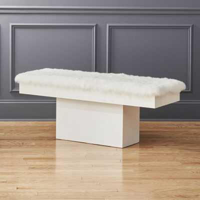 Fuze White Icelandic Sheepskin Bench Pad - CB2