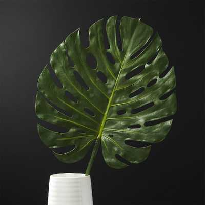 Large Faux Monstera Leaf - CB2