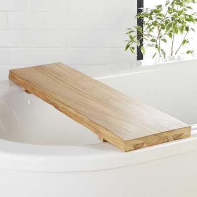 Live Edge Wood Bath Caddy - CB2