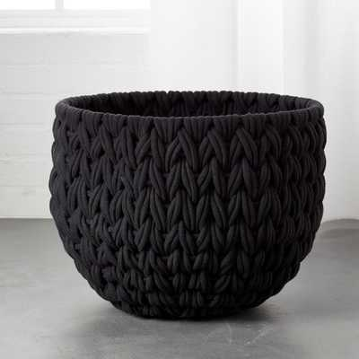 Conway Large Black Basket - CB2