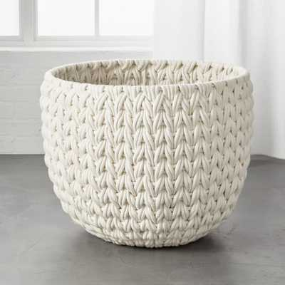 Conway Extra Large White Basket - CB2