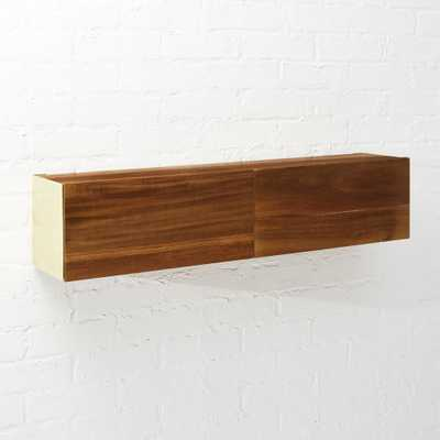 Hide N Seek Acacia Wood Storage Shelf - CB2