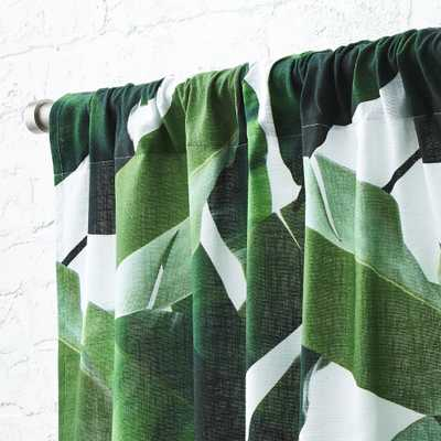 "Banana Leaf Curtain Panel 48""x96"" - CB2"