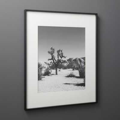 Gallery Black 16x20 Picture Frame with White Mat - CB2