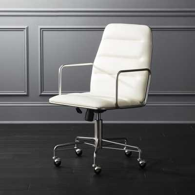 Mad White Executive Chair - CB2