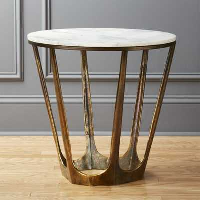 Parker White Marble Side Table - CB2